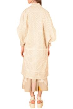 Chanderi Embroidered Jacket