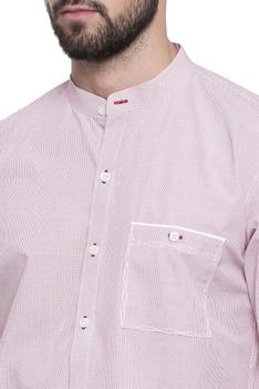 Slim Fit Shirt with Band Collar