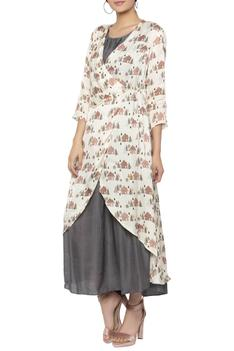Dress with Printed Jacket