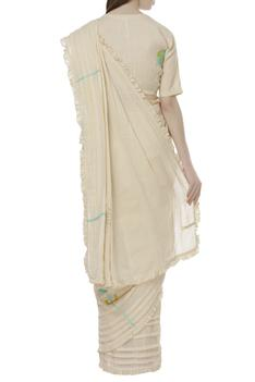 Linen Embroidered Saree