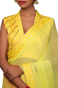 Saree with Printed blouse