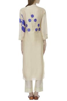 Silk Chanderi Embroidered tunic