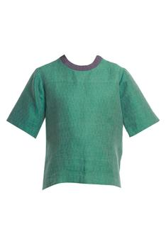 Handwoven Linen Top