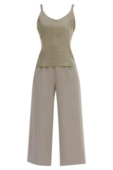 Textured Top Pant Set