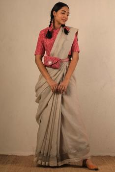 Kota Scallop Bordered Saree