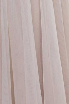 Pleated Flared Gown