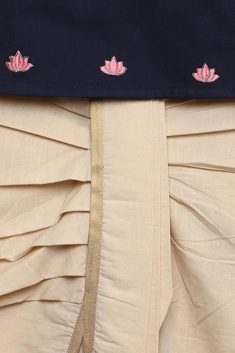 Embroidered Kurta Dhoti Set