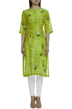 Chanderi Embroidered Kurta