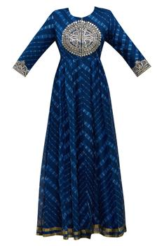 Silk Leheriya Anarkali Kurta