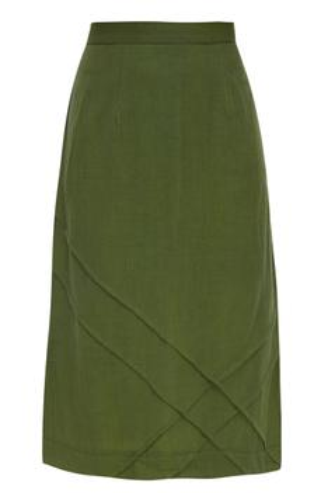 Cotton Blazer Skirt Set