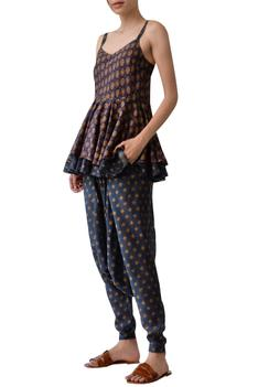 Chanderi Printed Layered Tunic