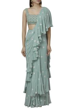Pre-Draped Saree Set