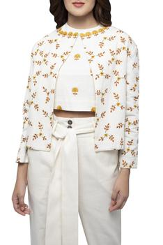 Embroidered Jacket Pant Set