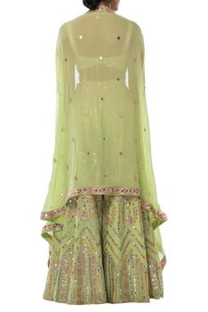Embroidered Sharara with Cape Set