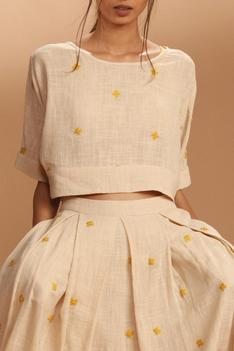 Embroidered Skirt with Top