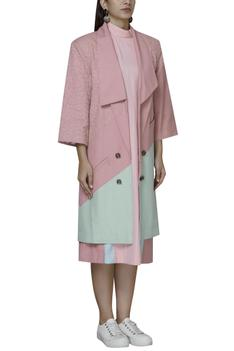 Colourblock Trench Coat