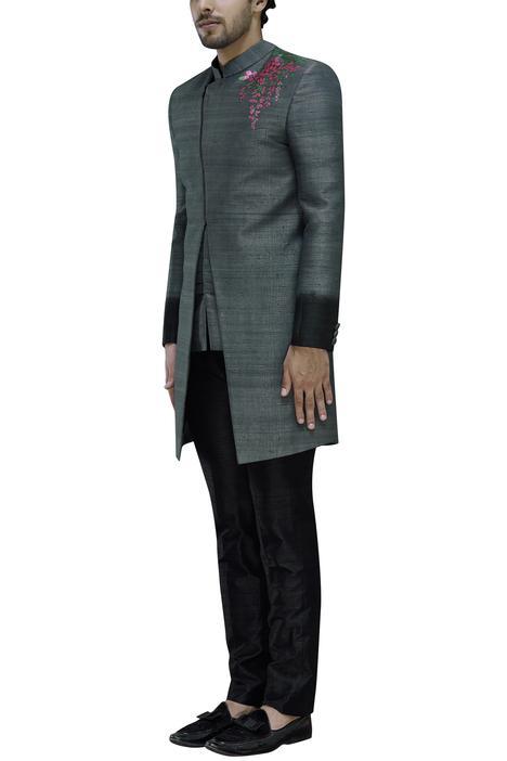 Silk Sherwani with Trousers