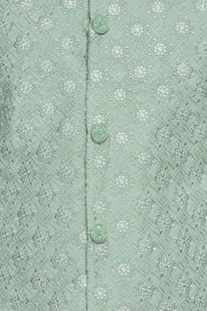 Chikankari Embroidered Sherwani Set