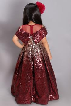 Sequin Gown with Hair clip