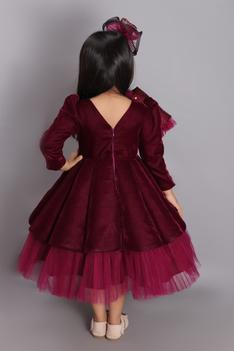 Velvet Gown with Hair Clip