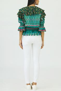 Printed Peplum Top