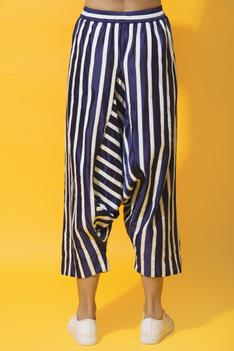 Chanderi Striped Pants