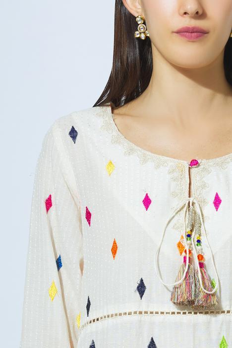 Embroidered Long Kurta