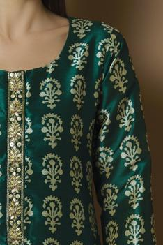 Silk Printed Kurta Set
