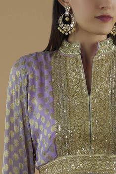 Embroidered Short Anarkali with Dupatta
