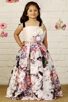 Printed Party Gown
