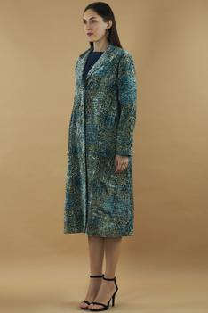 Silk Velvet Long Jacket