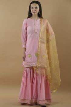 Silk Kurta Sharara Set