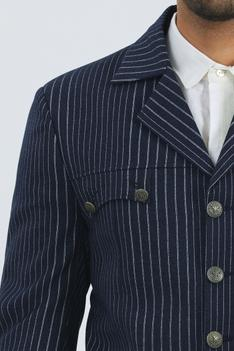 Striped Jacket with Pant