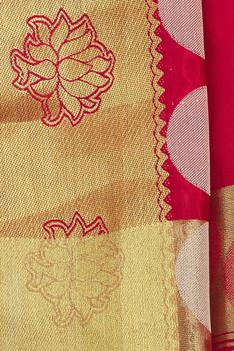 Woven Saree with Running Blouse