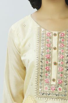 Chanderi Embroidered Kurta Set