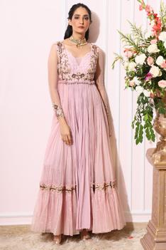 Embroidered Anarkali Jumpsuit