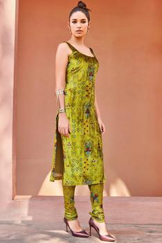 Silk Velvet Kurta Set