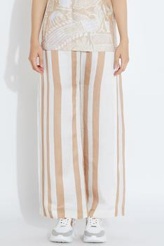 Silk Stripe Pants