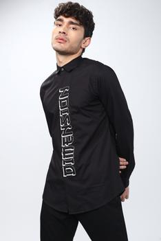 Slim Fit Typography Shirt