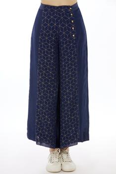 Embroidered Palazzo Pants