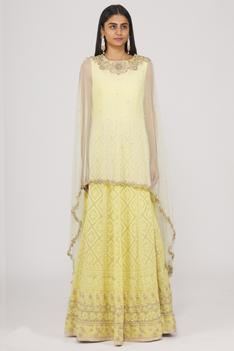 Lucknowi Anarkali with Cape