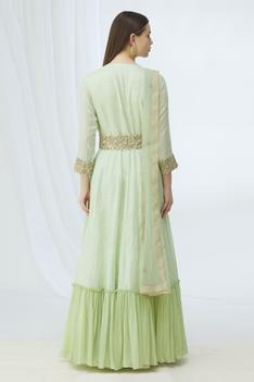 Embellished Anarkali with Dupatta
