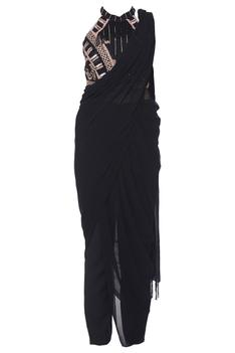 Embellished Draped Jumpsuit