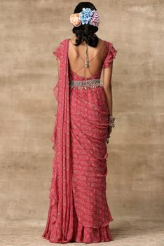 Pre-Draped Saree Gown