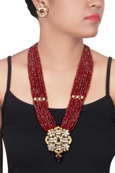 Bead Pendent Necklace Set