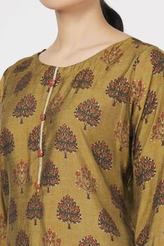 Silk Printed Kurta & Sharara Set