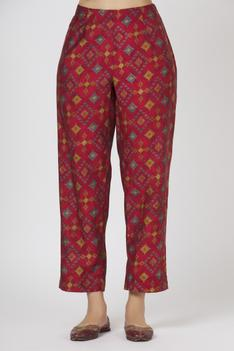 Silk Printed Kurta & Pant Set