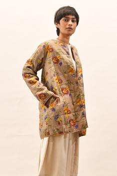Handloom Cotton Quilted Mia Jacket