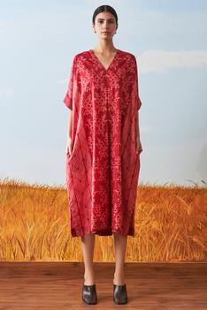 Shibori Kaftan Dress