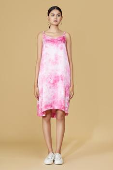 Organza Tie Dye Tiered Dress